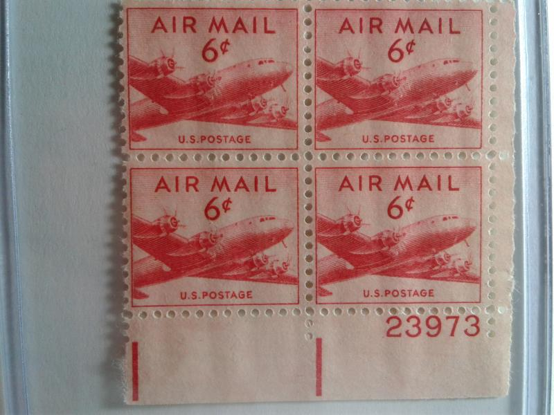SCOTT # C39 AIR MAIL PLATE BLOCK # 23973 MINT NEVER HINGED !!