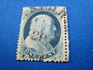 UNITED STATES, 1857 SCOTT #24  -  USED Type V  (#7)