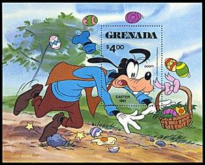 Grenada 1045, MNH, Disney Easter Baskets souvenir sheet