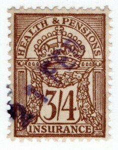 (I.B) George V Revenue : Health & Pensions Insurance 3/4d