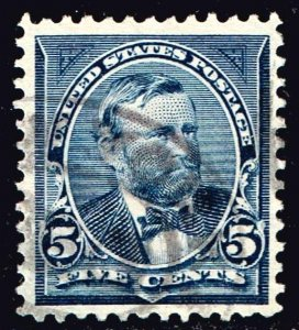 US STAMP #281 – 1898 5c Grant, dark blue Used STAMP XF XFS