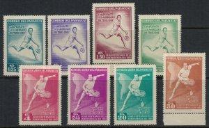 Paraguay #630-7*  CV $10.40  (some no gum)  Tennis