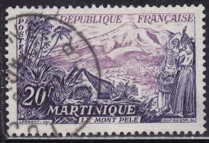 France 780 USED 1955 Mount Pelee, Martinique 20F