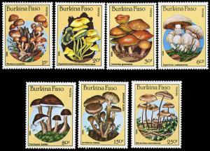 Burkina Faso 743-9 MNH - Fungi
