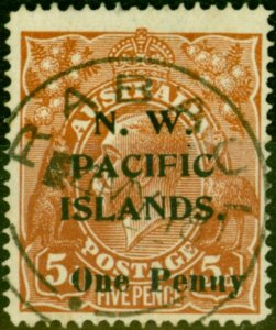 New Guinea 1918 1d on 5d Brown SG100 Fine Used