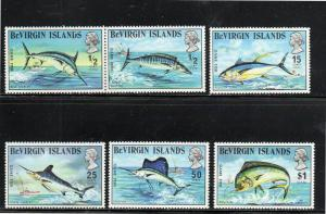VIRGIN ISLANDS #243-248  1972  GAME FISH        MINT VF NH O.G