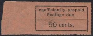ZANZIBAR 1926 POSTAGE DUE TYPESET 50C