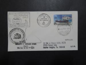 Chile 1989 Antarctica Cover / Signed / Multi Cacheted - Z9015
