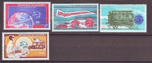 J22310 Jlstamp 1974 dahomey set mnh #c221-4 transportation