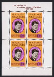 Upper Volta President Kennedy Commemoration MS SG#MS152a SC#C19a