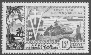 A2-0027 FRENCH WEST AFRICA C38 USED SCV $8.00 BIN $3.50
