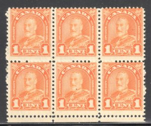 Canada Variety Error #162i 5NH - 1LH  block of 6 and 191i VF NH block of 9 C$490
