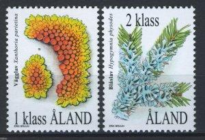 Aland/Åland 1999, Lichens full set 2v VF MNH, Mi 159-160