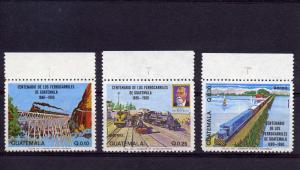 Guatemala 1983 Centenary of Trains set (3) MNH SC # C765-767