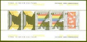 HERRICKSTAMP NETHERLANDS Sc.# B625A 1986 Instruments S/S