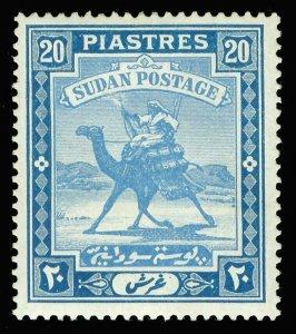 Sudan 1935 20p pale blue & blue (CH) MLH. SG 46b. Sc 50.