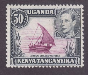Kenya Uganda & Tanzania 79a Mint 50c Gray Black Black & Red Type II Perf 13x11½