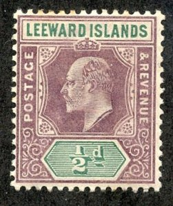 Leeward Isl, Scott #20 Unused, Hinged