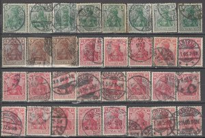 COLLECTION LOT OF #1189 GERMANY 32 GERMANIA STAMPS 1902+ CLEARANCE CV = $35