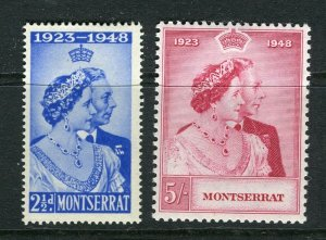 MONTSERRAT; 1948 early Silver Wedding issue Mint hinged SET