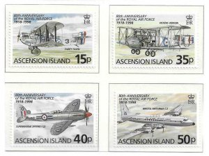 1998   ASCENSION ISLANDS  -  SG.  742 / 745  -  ROYAL AIR FORCE ANNIV.   -  UMM