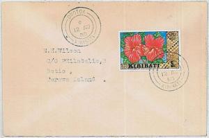 Flowers - POSTAL HISTORY  cover  -  KIRIBATI 1980 : ONOTOA