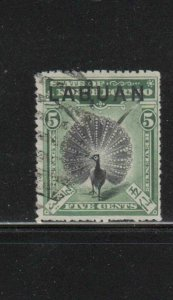 LABUAN #76  1897  5c ARGUS PHEASANT    F-VF USED  a