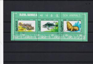 south korea sea animals used collectors stamps sheet  ref r12220