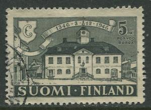Finland - Scott 254 - Old Town Hall Porvoo -1946- Used - Single 5m Stamp