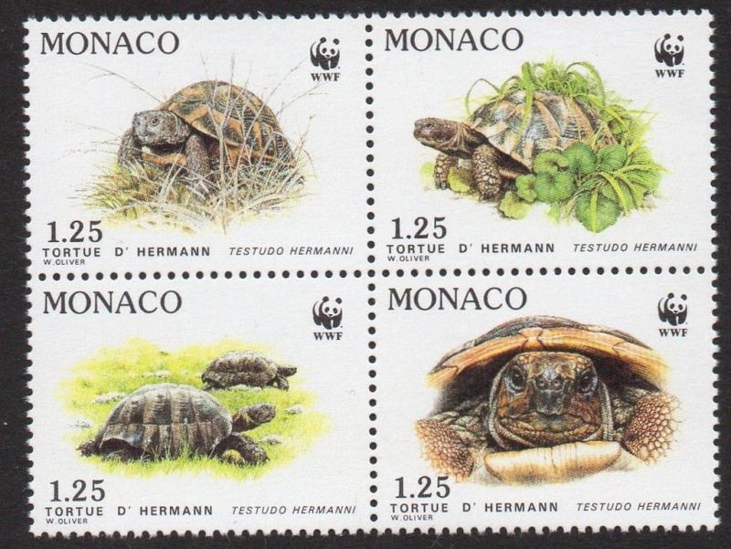 Monaco 1991 Turtles World Wildlife Fund VF MNH (1781a)