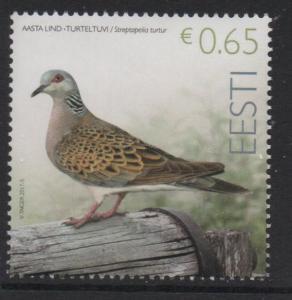 Estonia Sc 835 2017 Bird stamp mint NH