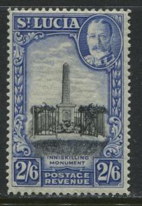 St. Lucia KGV 1936 2/6d mint o.g.