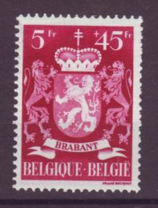 J21325 Jlstamps 1945 belgium hv of set mh #b416 arms