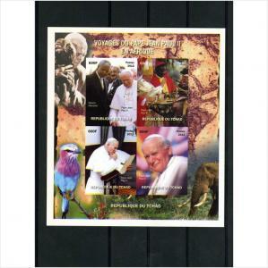 Chad 2011 Mandela & Pope John Paul II DeLuxe Sheet mnh.vf