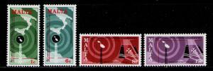 MALTA 1977 MNH SC.535/538 World Telecomunications Day