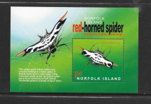 INSECTS - NORFOLK ISLAND #817 RED-HORNED SPIDER  MNH