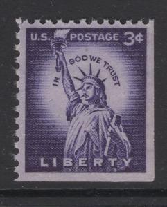 US 1954 Statue of Liberty Booklet Pane of 6 Stamps Scott 1035a MNH