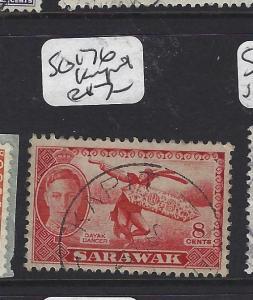 SARAWAK (P2708B) KGVI  8C DANCER  SG 176 KAPIT  CDS  VFU
