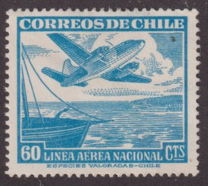 Chile C137 Aircraft Over Water 1953