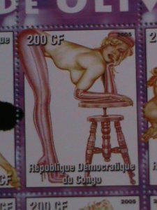CONGO-STAMP:2005 FAMOUS NUDE PAINTING BY OLIVIA MNH-STAMP S/S SHEET