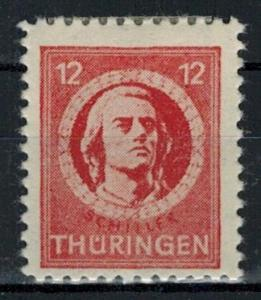 Germany - Russian Zone - Thuringia - Scott 16N6 MH