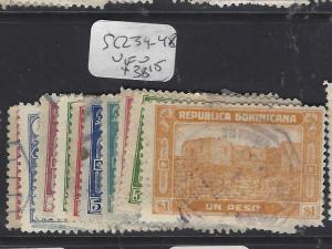 DOMINICAN REPUBLIC (P1010B)  SC 239-248             VFU