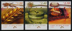 Israel 1576-8 + tabs MNH Festivals, Wheat, Breamaking