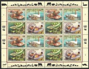Doyle's_Stamps: 2000 U.N. Endangered Species Sheet Set