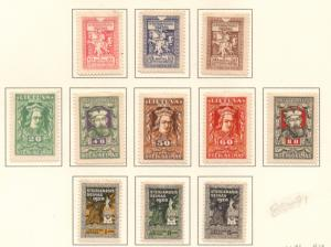 Lithuania Sc 81-91 1920 White Knight stamp set