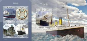 Z08 ST190309ab Sao Tome and Principe 2019 Titanic MNH ** Postfrisch