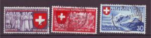 J17354 JLstamps 1939 switzerland set used #247-9 in french