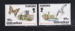 Gibraltar 483-484 Set MNH Europa (B)