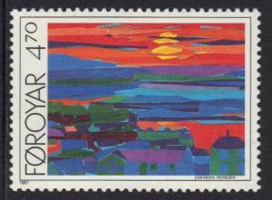 Faroe Islands 1987 MNH Torshavn views   4k.70  #