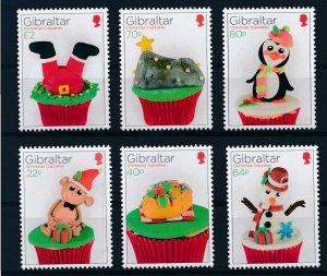 [I984] Gibraltar 2017 Christmas good set of stamps very fine MNH